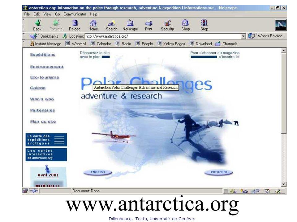 Dillenbourg, Tecfa, Université de Genève. www.antarctica.org