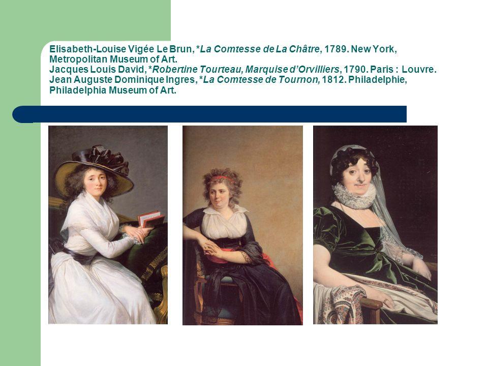 Elisabeth-Louise Vigée Le Brun, *La Comtesse de La Châtre, 1789.