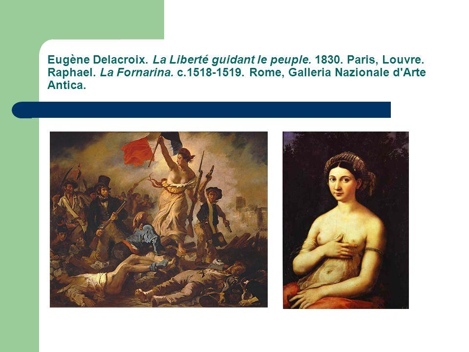 Eugène Delacroix.La Liberté guidant le peuple. 1830.