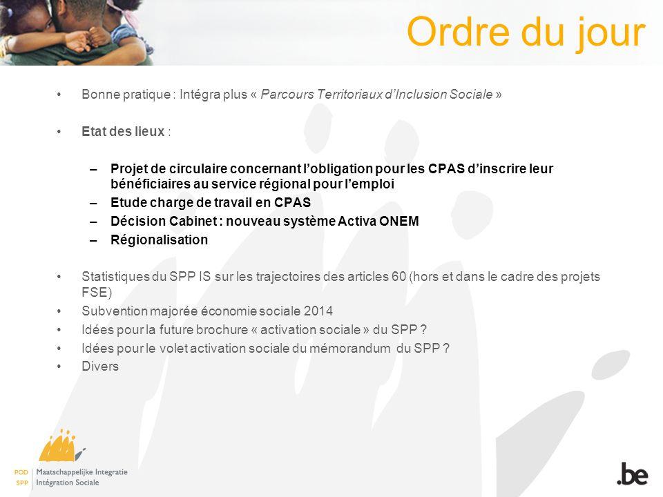 Mémorandum Idées pour le volet activation sociale du mémorandum du SPP ?
