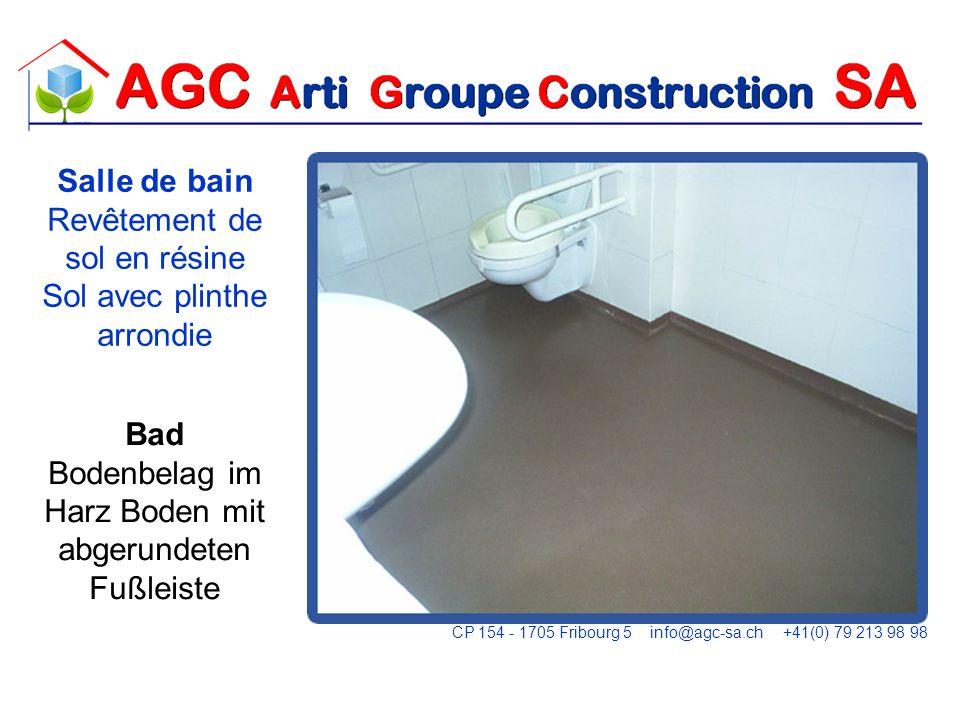 Abdichtung einer Tür zwischen der Wand und PVC Étanchéité en dessous dune véranda CP 154 - 1705 Fribourg 5 info@agc-sa.ch +41(0) 79 213 98 98
