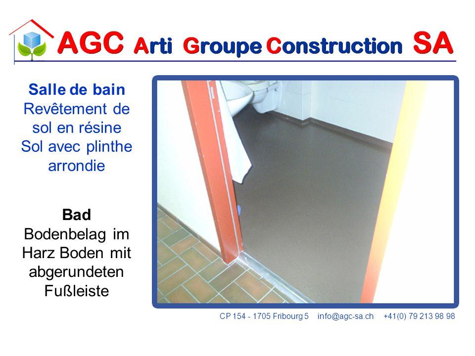 Abdichtung einer Tür zwischen der Wand und PVC Étanchéité dune porte entre le PVC et le mur CP 154 - 1705 Fribourg 5 info@agc-sa.ch +41(0) 79 213 98 98