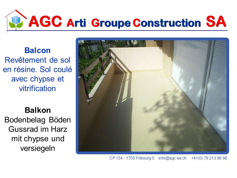 FLASHING Balcon Revêtement de sol en résine.