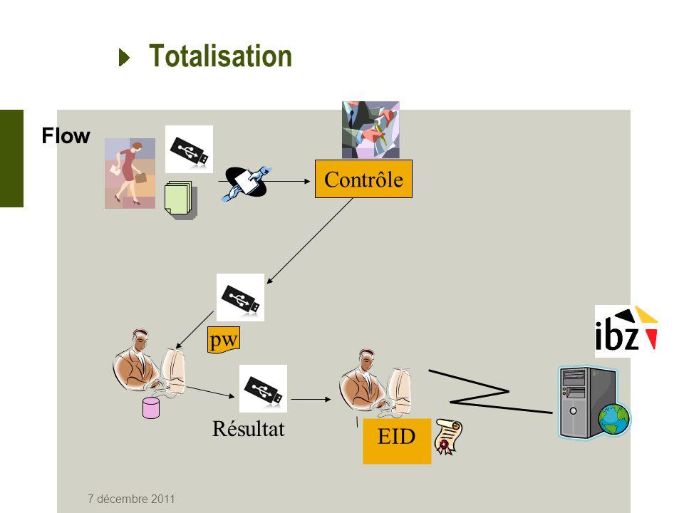 Totalisation Flow Contrôle pw Résultat EID