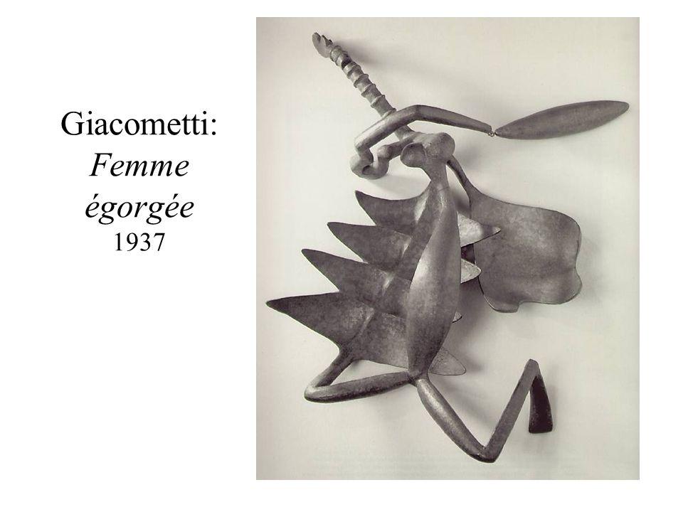 Giacometti: Femme égorgée 1937