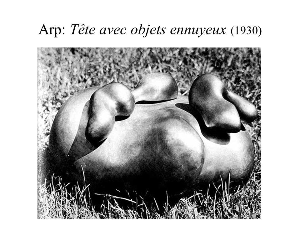 Arp: Tête avec objets ennuyeux (1930)