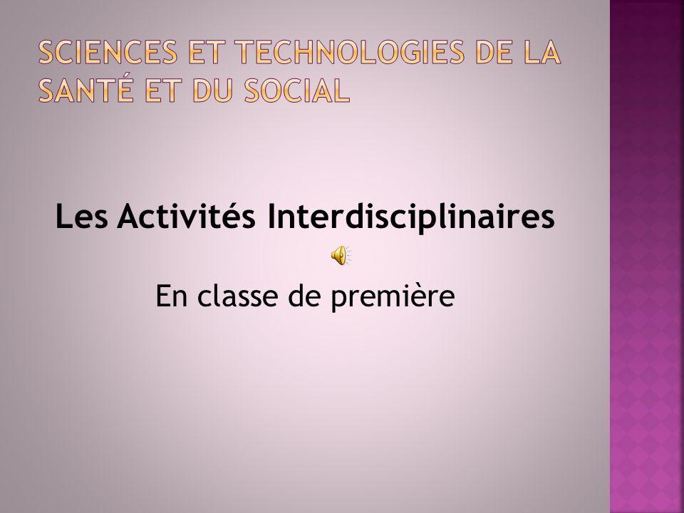 Les Activités Interdisciplinaires En classe de première