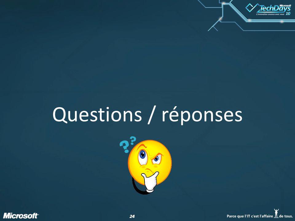 24 Questions / réponses
