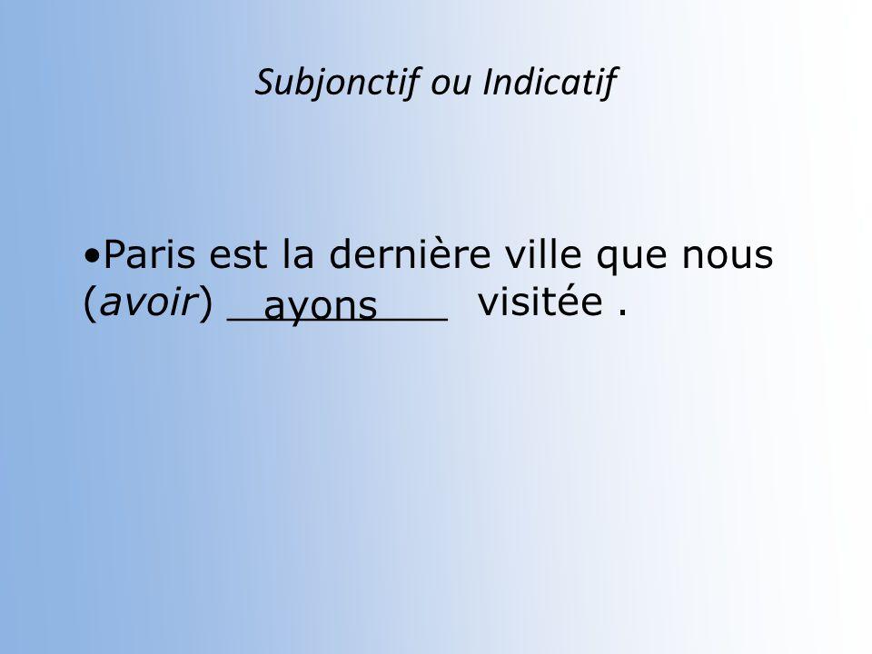 Subjonctif ou Indicatif Il n est pas certain que cette classe (être) ________ si difficile. soit