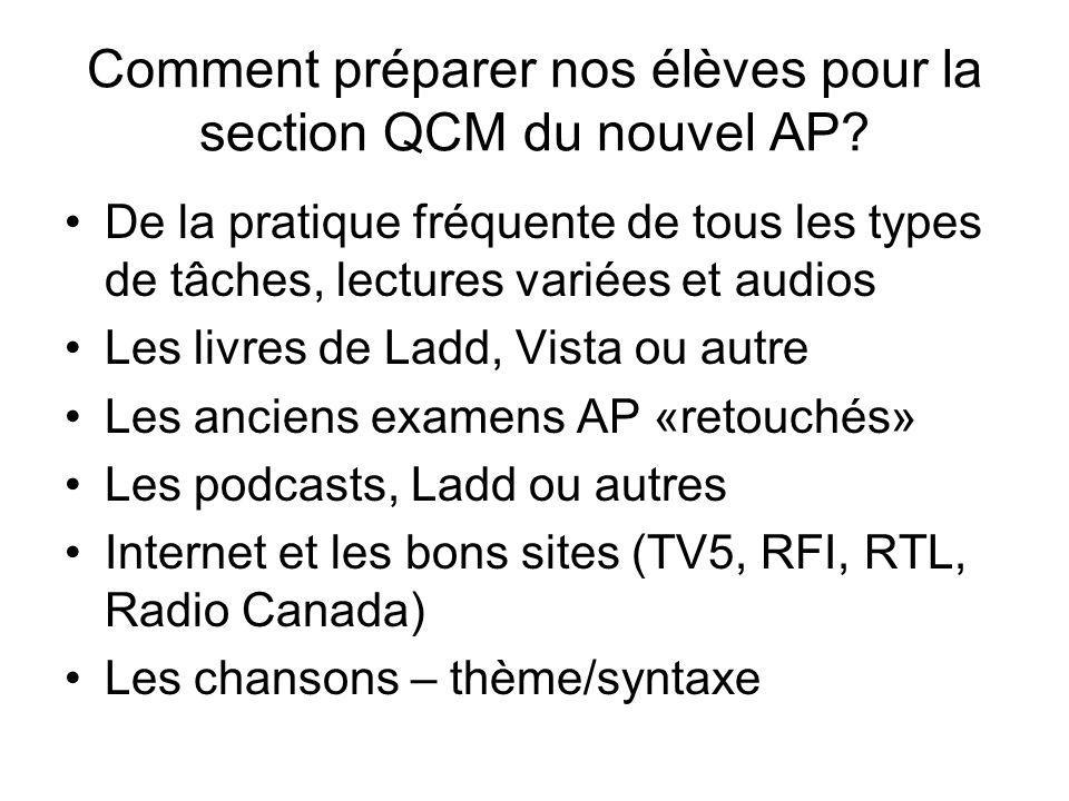 Ressources audio et lecture All my French students (2-AP) subscribe to the following two resources which provide constant vocabulary and cultural enrichment Les clés de lactualité junior 1jour1actu http://1jour1actu.com/culture/une-expo-sur-les- jeux-video/http://1jour1actu.com/culture/une-expo-sur-les- jeux-video/ NIOUZZ: un petit programme de télé pour adolescents http://www.rtbf.be/video/v_les- niouzz?id=1236273&category=jeunesse%20%2 0http://www.rtbf.be/video/v_les- niouzz?id=1236273&category=jeunesse%20%2 0