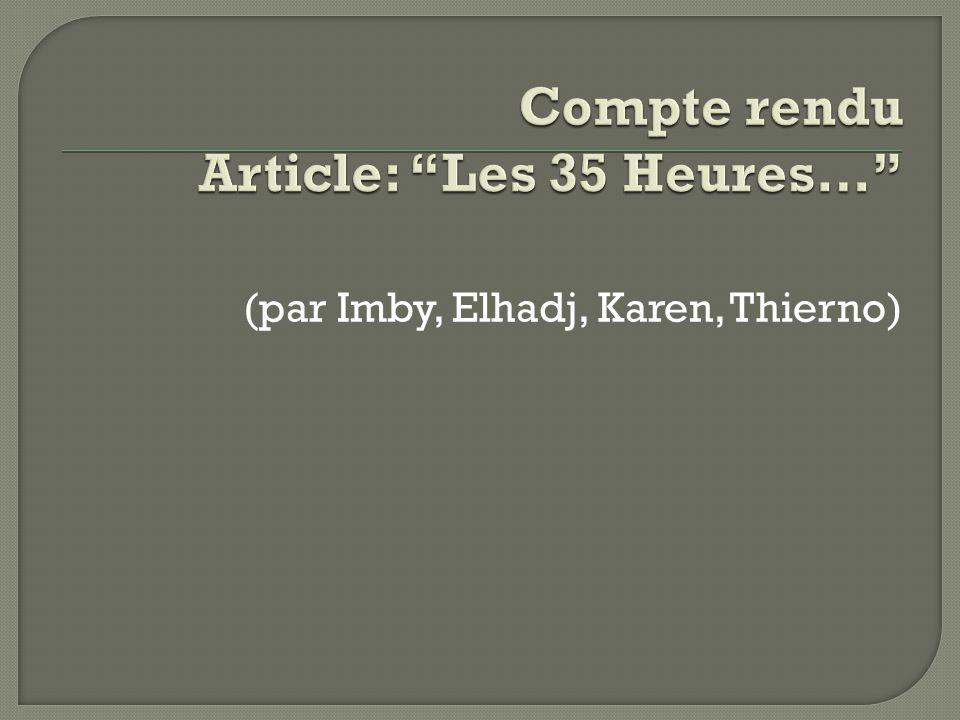(par Imby, Elhadj, Karen, Thierno)