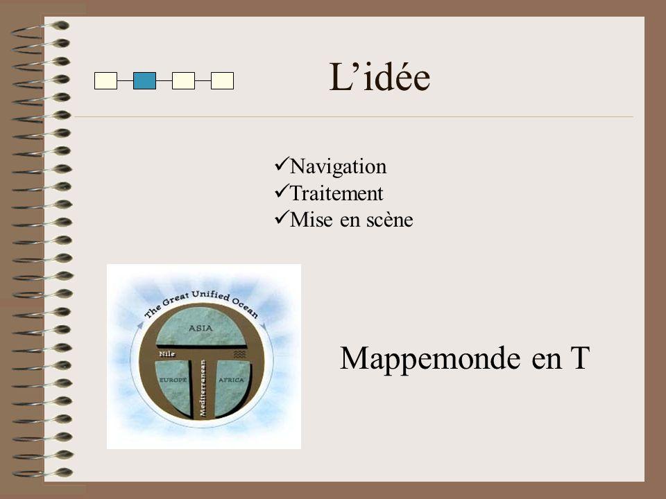 Lidée Mappemonde en T Navigation Traitement Mise en scène
