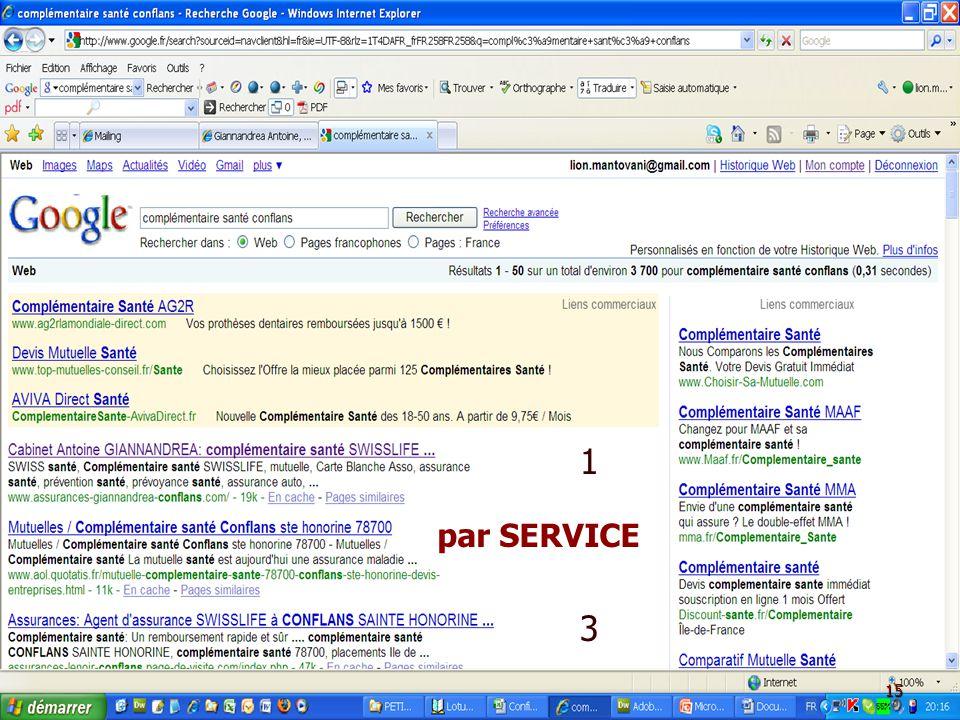 A.A.2.C.par SERVICE : Présentation Google - AIBT - le 5 Mars 2009 AA2C – Té.