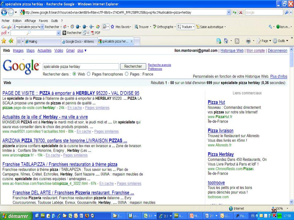 A.A.2.C. Présentation Google - AIBT - le 5 Mars 2009 AA2C – Té! : 09 60 35 40 19 30