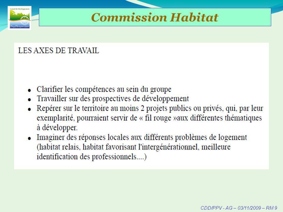 CDD/PPV - AG – 03/11/2009 – RM 9 Commission Habitat