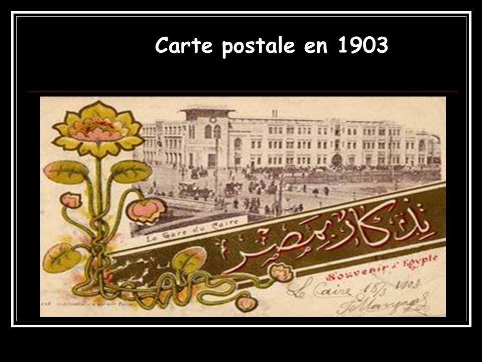 Carte postale en 1903