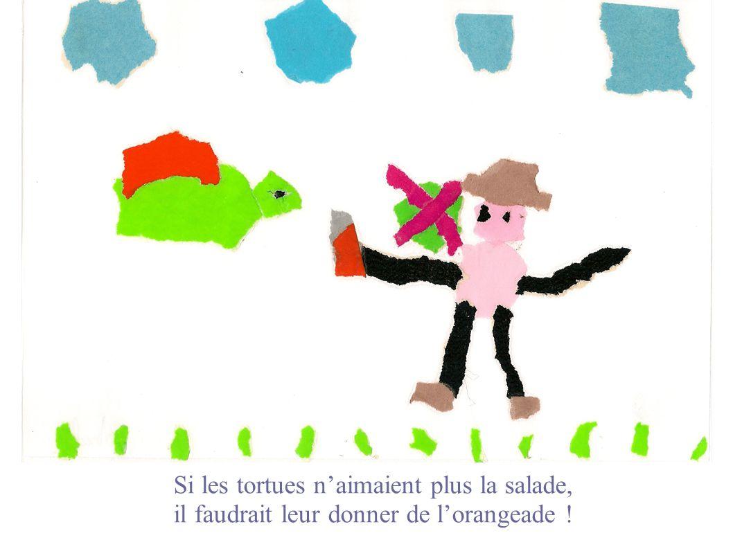 Si les tortues naimaient plus la salade, il faudrait leur donner de lorangeade !
