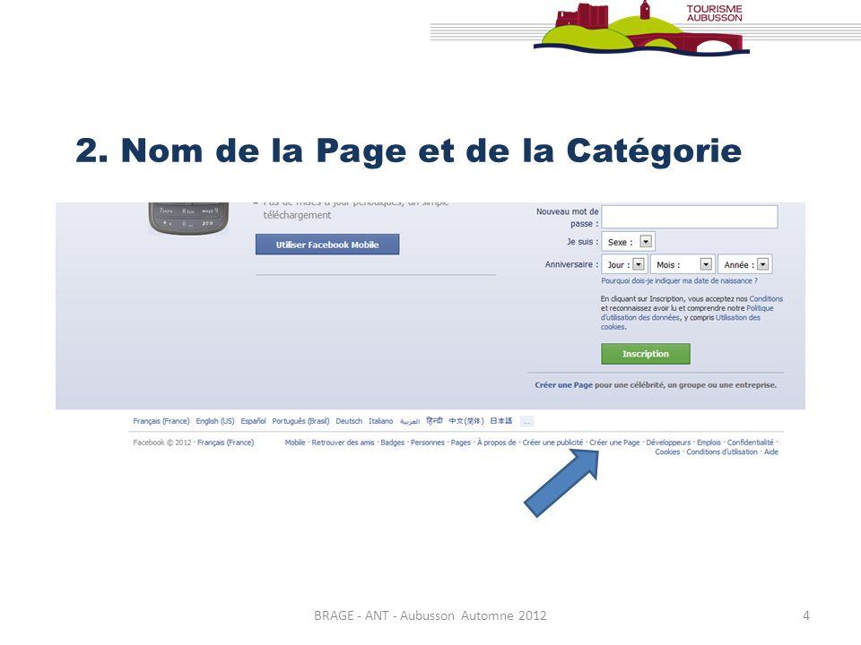 BRAGE - ANT - Aubusson Automne 20124 2. Nom de la Page et de la Catégorie