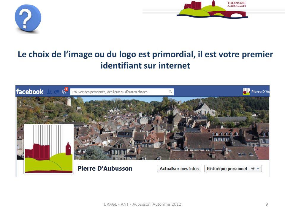 BRAGE - ANT - Aubusson Automne 20129 Le choix de limage ou du logo est primordial, il est votre premier identifiant sur internet