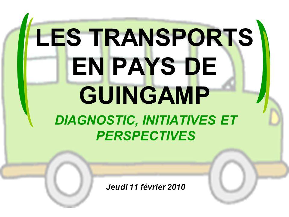 LES TRANSPORTS EN PAYS DE GUINGAMP DIAGNOSTIC, INITIATIVES ET PERSPECTIVES Jeudi 11 février 2010
