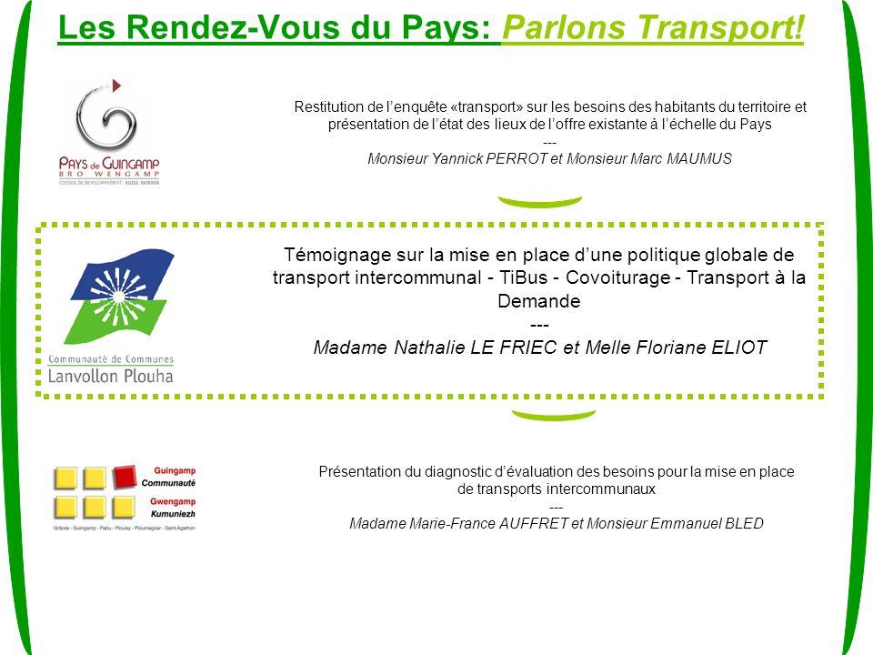 Les Rendez-Vous du Pays: Parlons Transport.