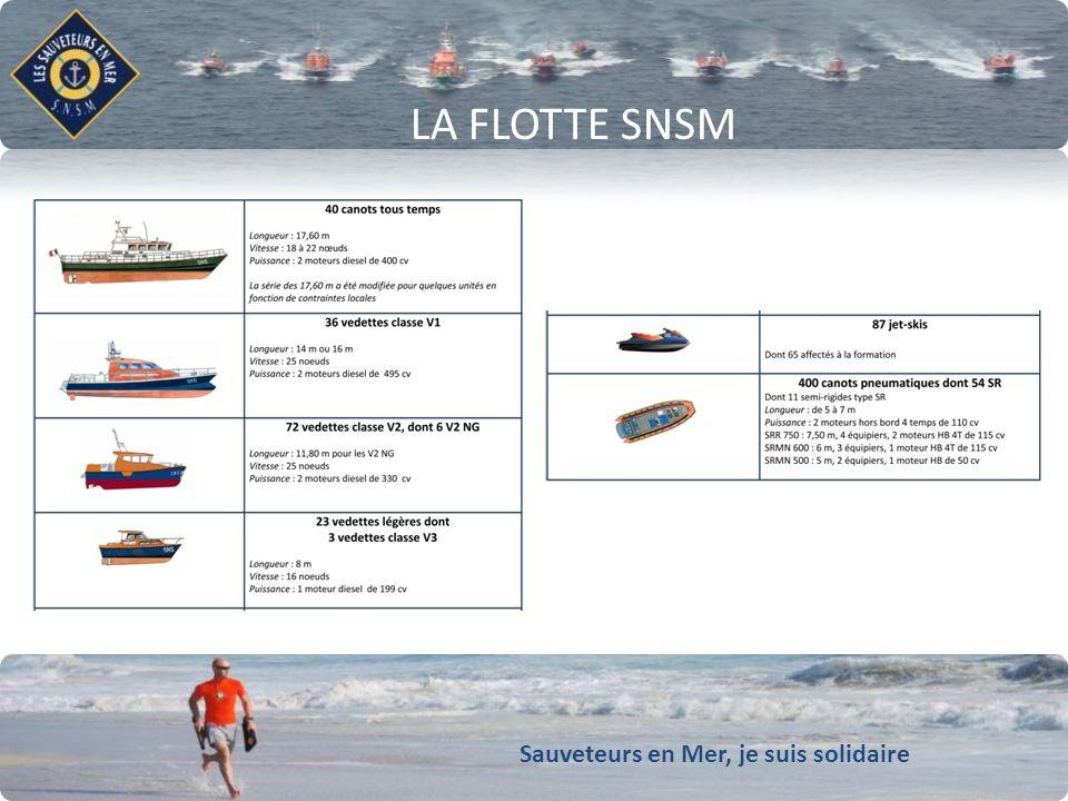 Sauveteurs en Mer, je suis solidaire Conforter notre dynamique de développement LA FLOTTE SNSM