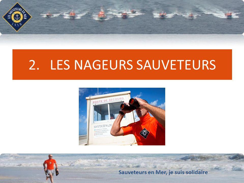 Sauveteurs en Mer, je suis solidaire Conforter notre dynamique de développement 2. LES NAGEURS SAUVETEURS