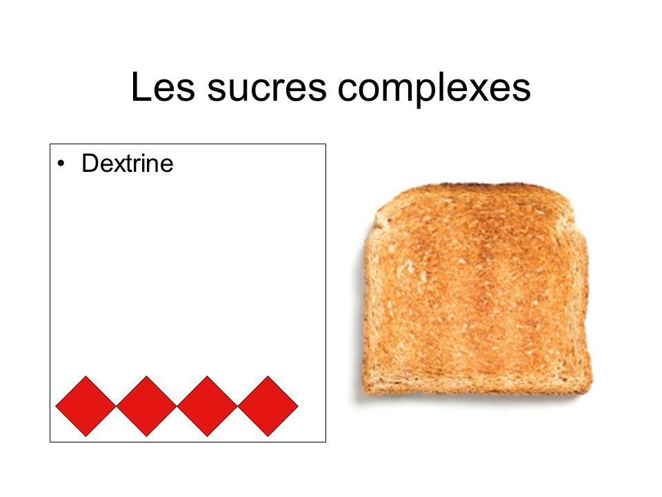 Les sucres complexes Dextrine