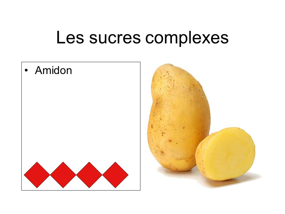 Les sucres complexes Amidon