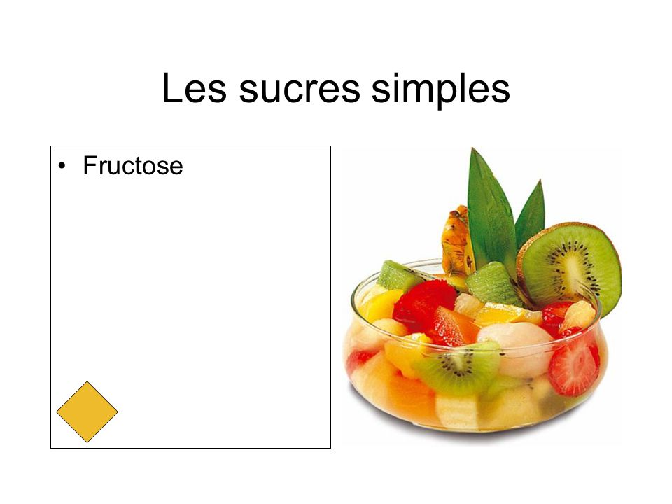 Les sucres simples Fructose