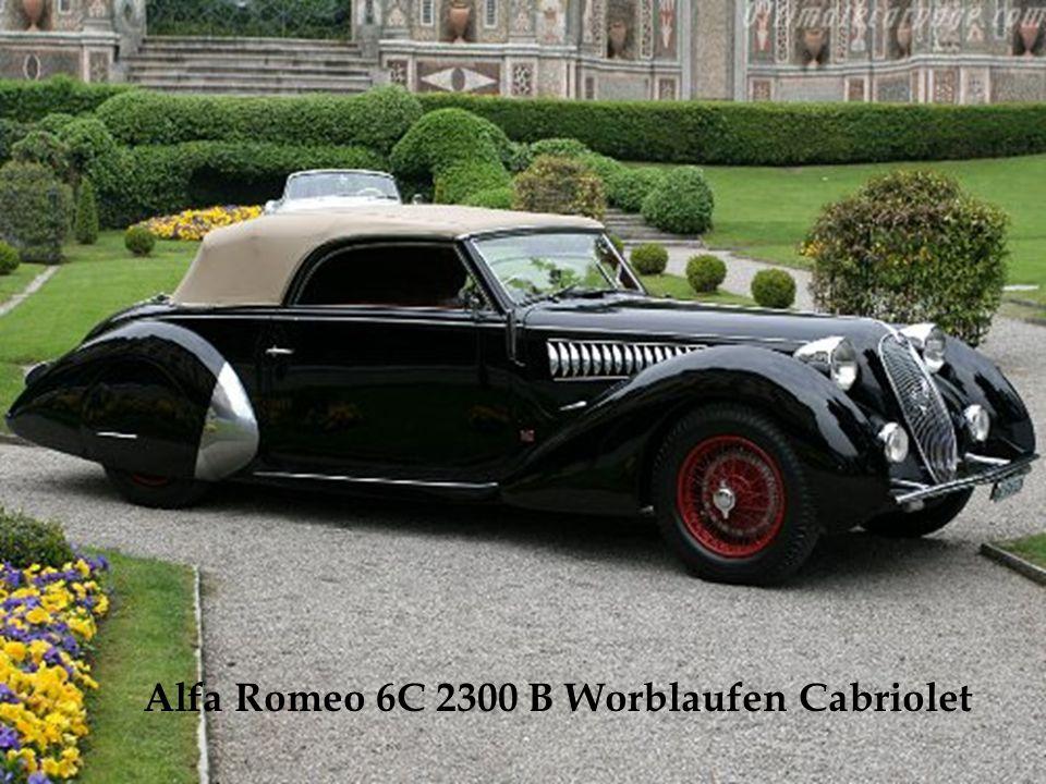 Moteur de 8 cylindres en ligne de 2,9 litres. A peine 20 exemplaires furent fabriqués entre 1937 et 1939. Le modèle de la photo a gagné le Concours d'