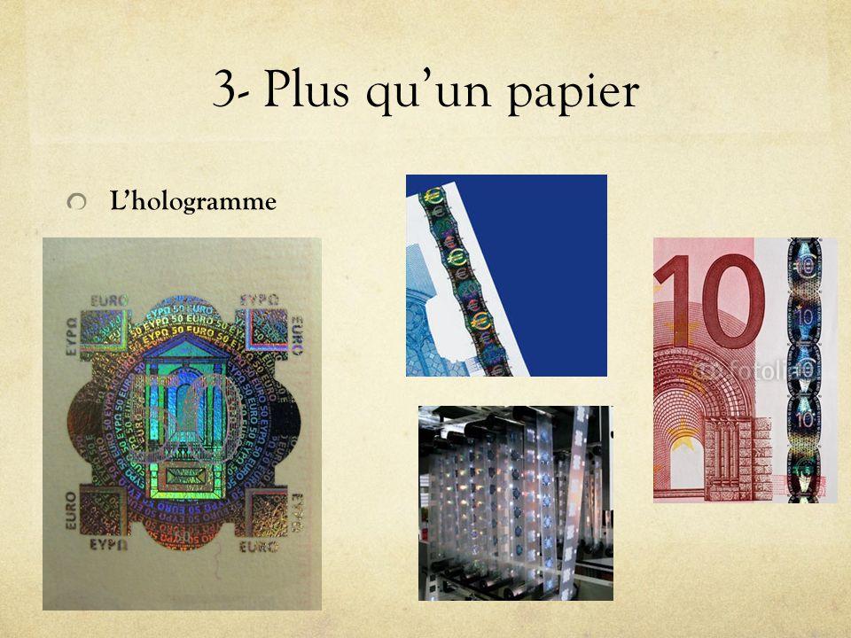 3- Plus quun papier Lhologramme