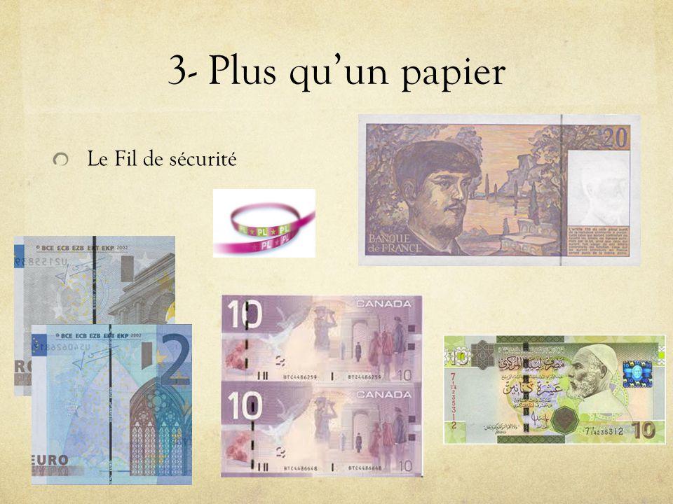 3- Plus quun papier Le Fil de sécurité