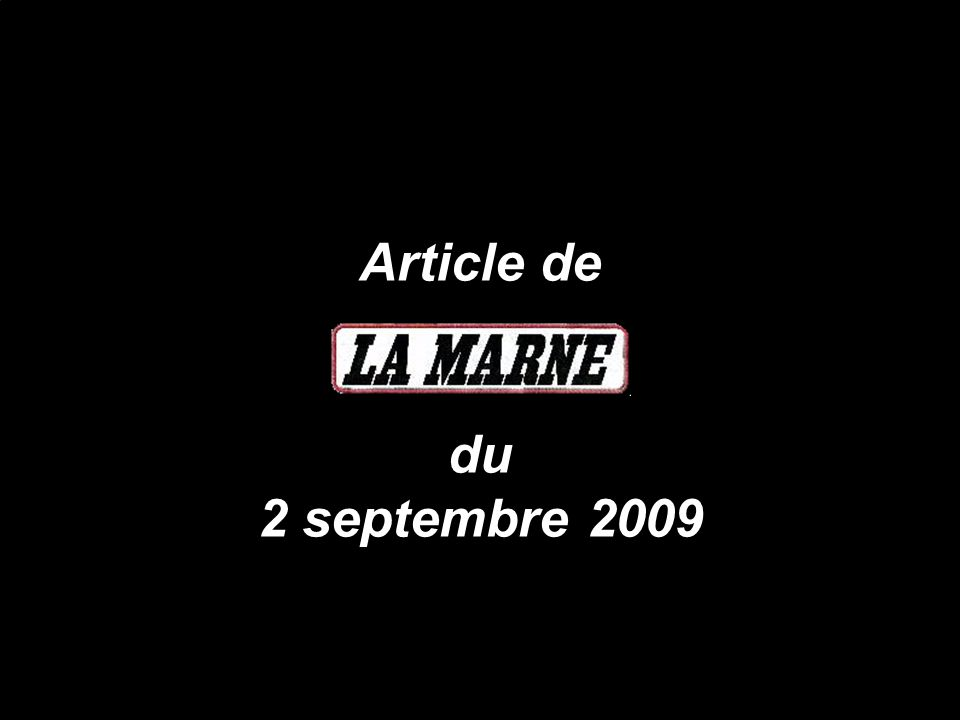 Article de du 2 septembre 2009