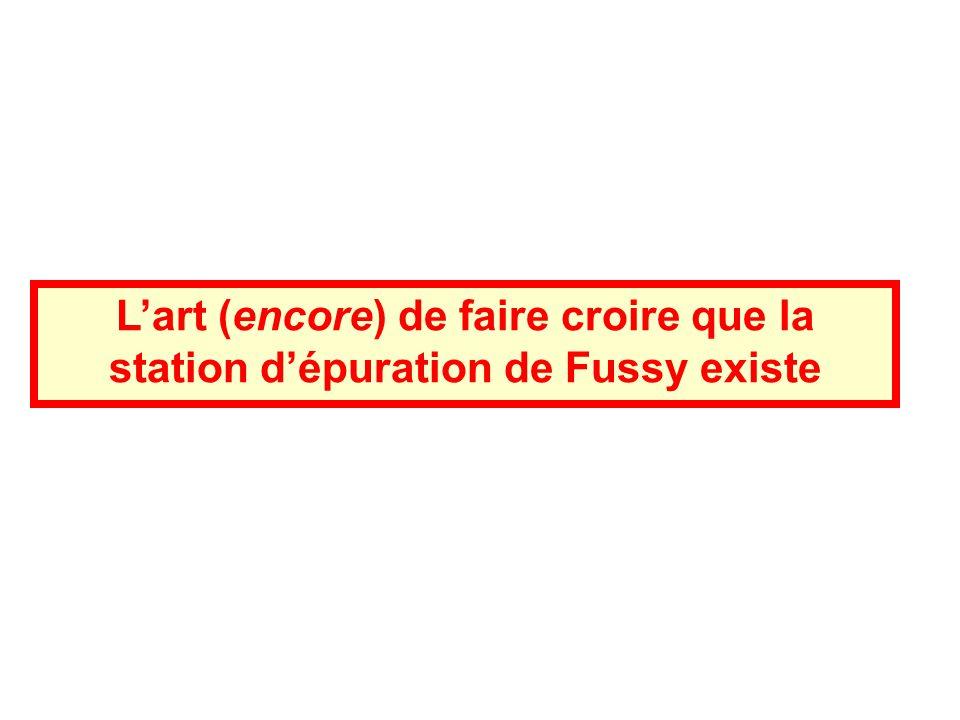 Lart (encore) de faire croire que la station dépuration de Fussy existe
