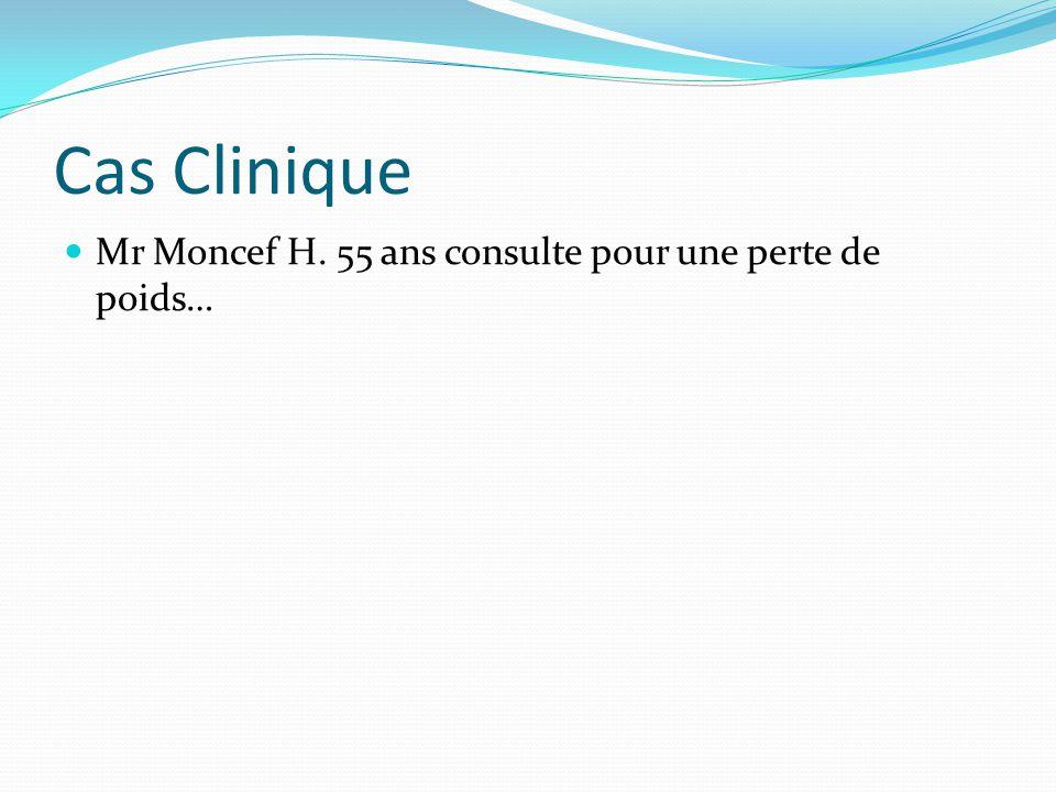 Cas Clinique Mr Moncef H. 55 ans consulte pour une perte de poids…
