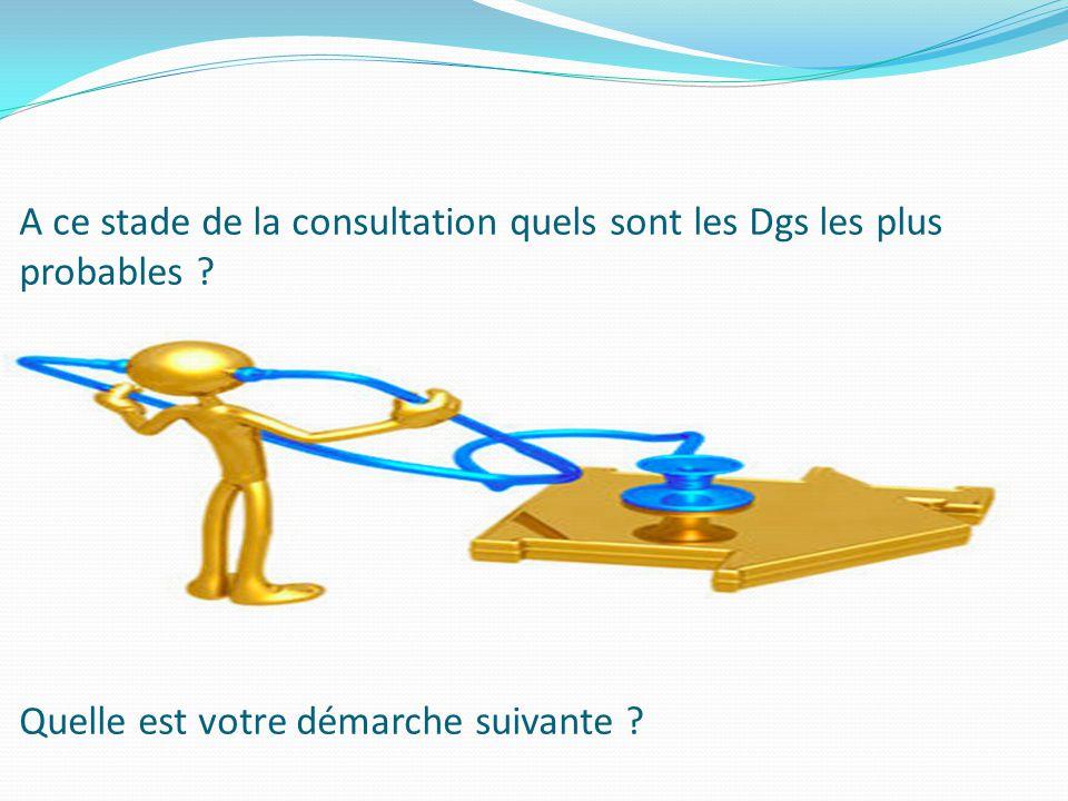 A ce stade de la consultation quels sont les Dgs les plus probables ? Quelle est votre démarche suivante ?