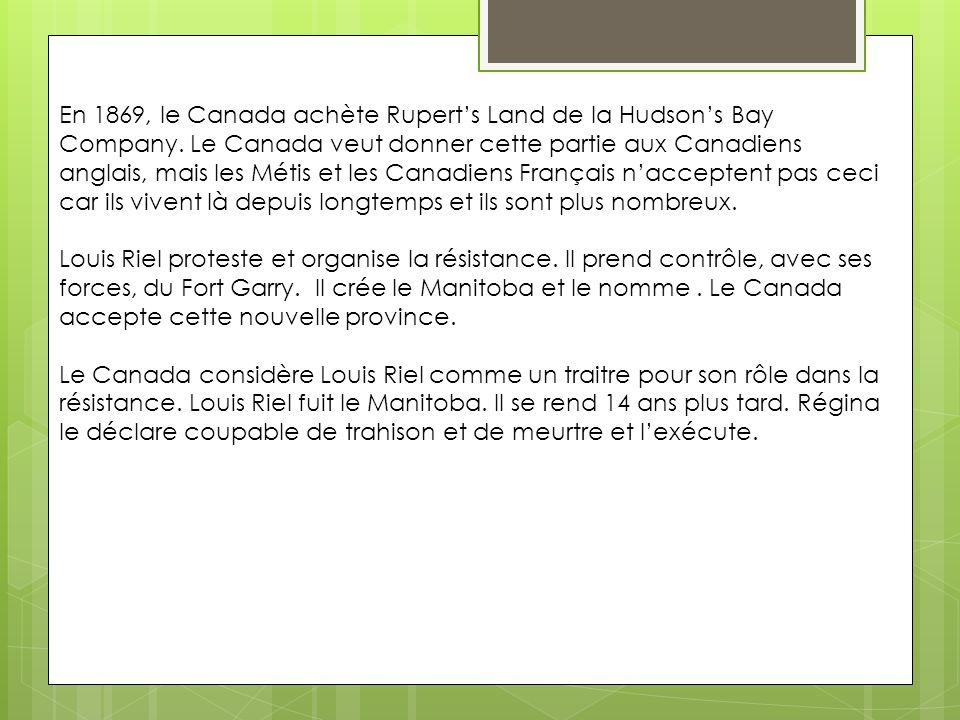Louis Riel et la fondation du Manitoba