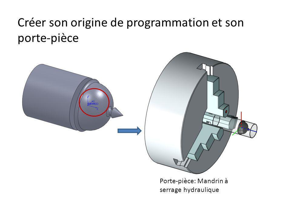 Créer son origine de programmation et son porte-pièce Porte-pièce: Mandrin à serrage hydraulique