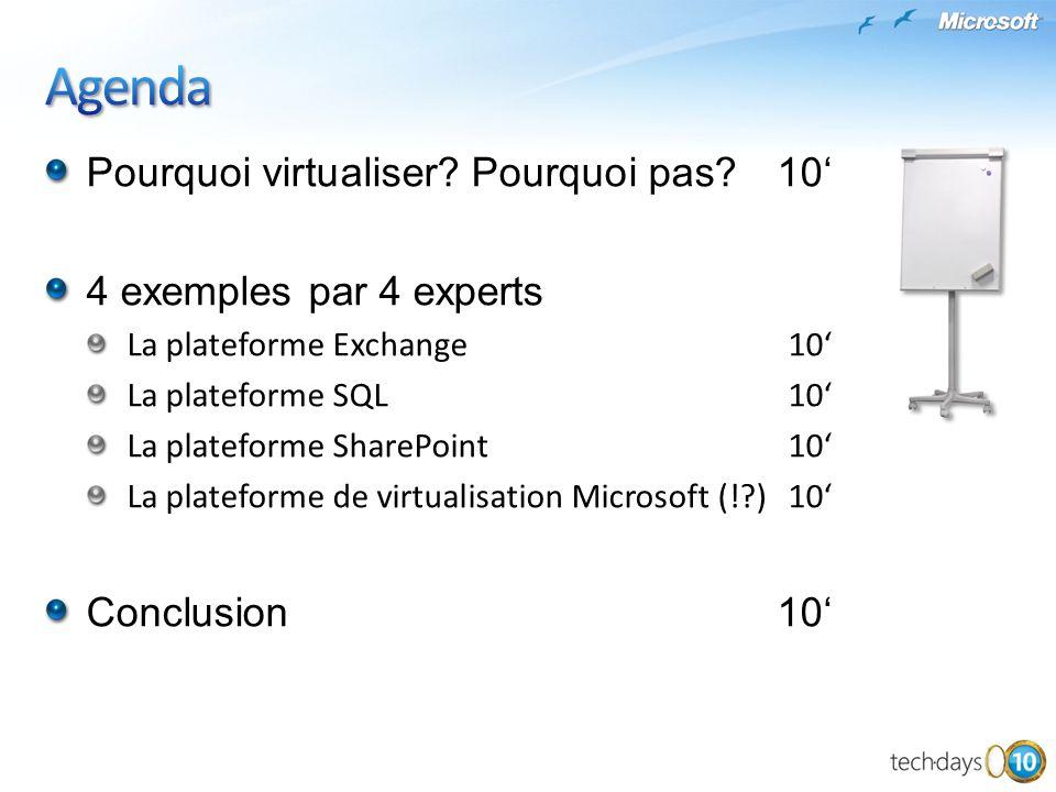 Pourquoi virtualiser? Pourquoi pas?