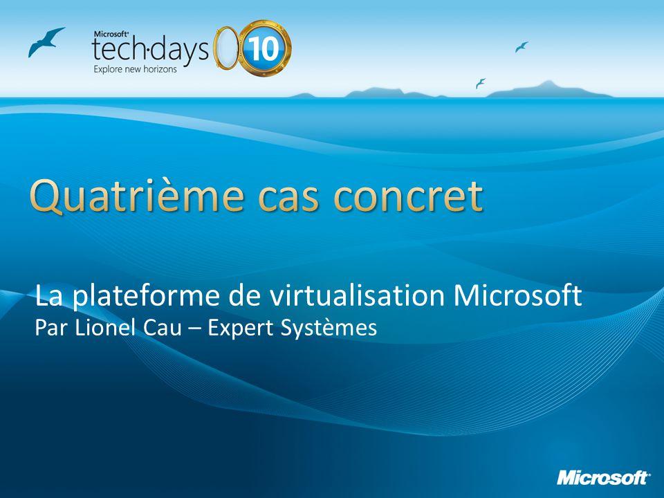 La plateforme de virtualisation Microsoft Par Lionel Cau – Expert Systèmes