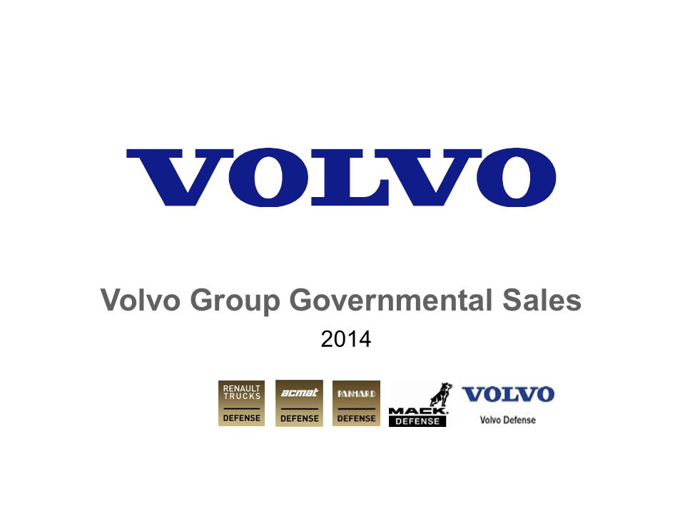 Volvo Group Governmental Sales 2014