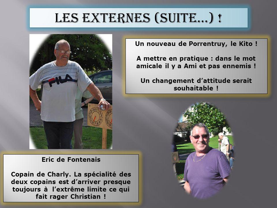 Les externes (suite…) ! Eric de Fontenais Copain de Charly. La spécialité des deux copains est darriver presque toujours à lextrême limite ce qui fait