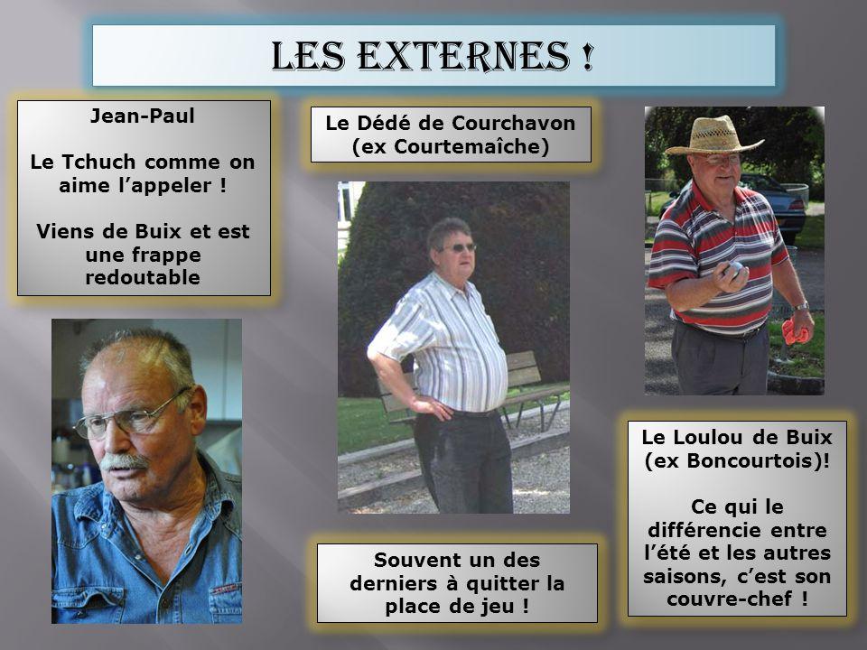 Les externes ! Jean-Paul Le Tchuch comme on aime lappeler ! Viens de Buix et est une frappe redoutable Jean-Paul Le Tchuch comme on aime lappeler ! Vi