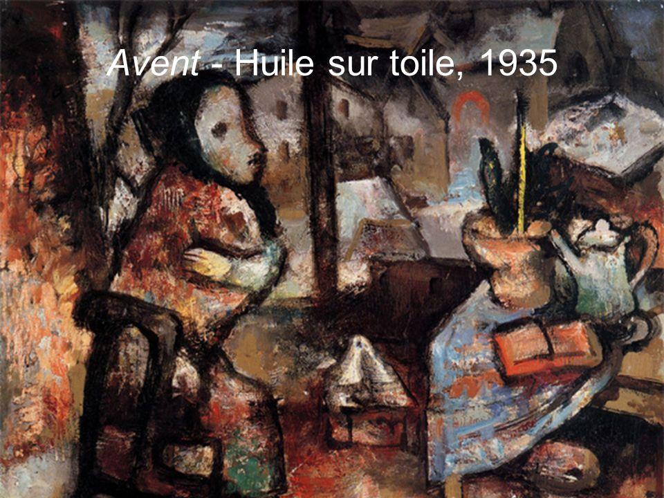 Les visiteurs - Huile sur toile, 1932