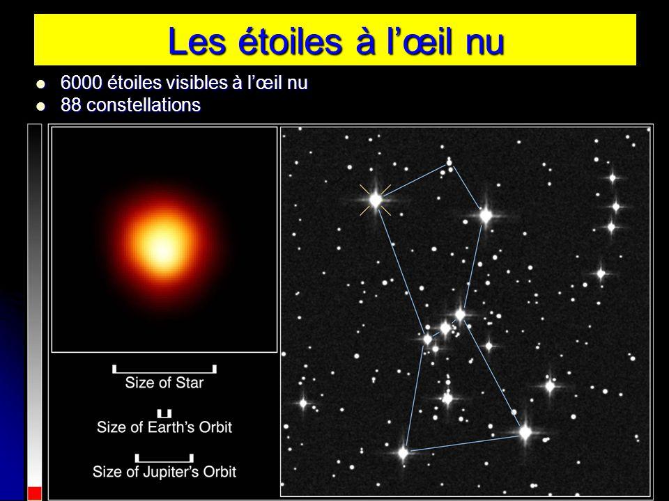 Les étoiles à lœil nu 6000 étoiles visibles à lœil nu 6000 étoiles visibles à lœil nu 88 constellations 88 constellations