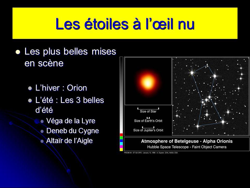 Les plus belles mises en scène Les plus belles mises en scène Lhiver : Orion Lhiver : Orion Lété : Les 3 belles dété Lété : Les 3 belles dété Véga de la Lyre Véga de la Lyre Deneb du Cygne Deneb du Cygne Altaïr de lAigle Altaïr de lAigle