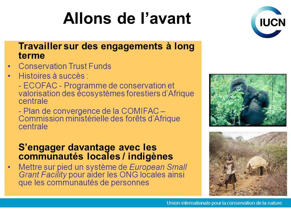 Union internationale pour la conservation de la nature Allons de lavant Travailler sur des engagements à long terme Conservation Trust Funds Histoires