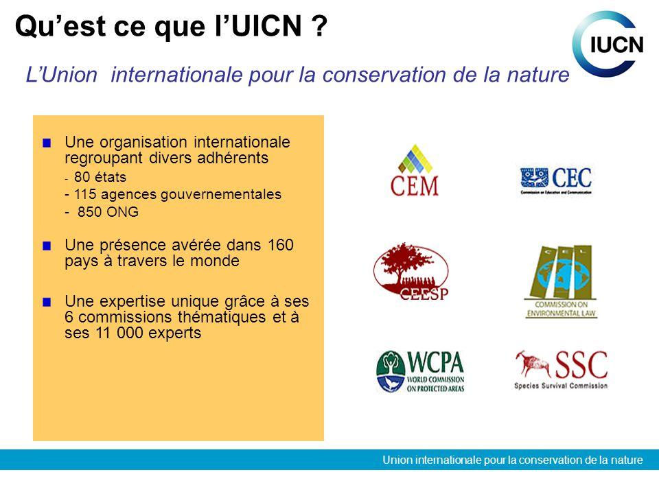 Union internationale pour la conservation de la nature Que fait lUICN .