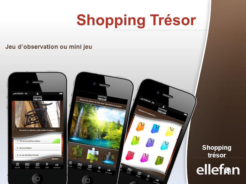 Shopping Trésor Shopping trésor Jeu dobservation ou mini jeu